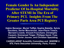 Female Gender Is An Independent Predictor Of In
