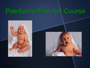 PAEDIATRIC-2013 - First Aid Training Excellence