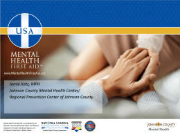 Mental Health First Aid - The National Association for the Education