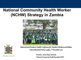 Jenny-Meya Nyirenda - Zambia UK Health Workforce Alliance