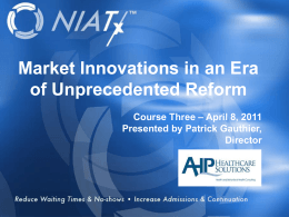 Market Innovations in an Era of Unprecedented Reform