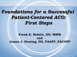 Webinar Slides: Frank Belsito, DO, and James Dearing, DO