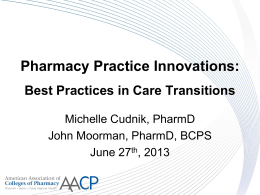 Pharmacy Practice Innovations