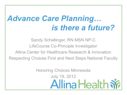Sandy Schellinger, Allina Health