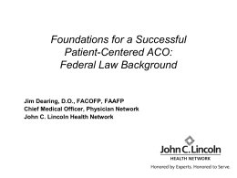 Foundations for a Successful Patient