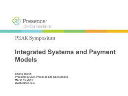 Connie March PEAK Integrated Systems Payment