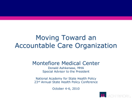 Moving Toward an Accountable Care Organization