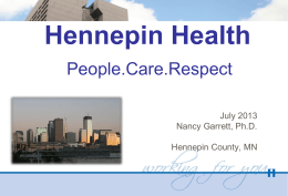 Hennepin Health: People. Care. Respect.