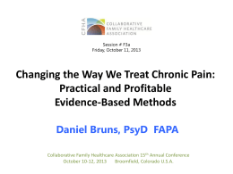 Pain Treatment - Collaborative Family Healthcare Association