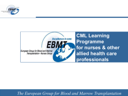 3 case presentations - European Group for Blood and Marrow