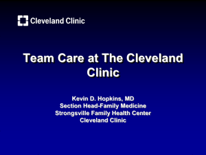 Team Care at The Cleveland Clinic
