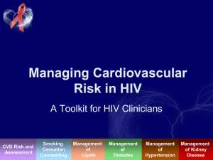 Managing Cardiovascular Risk in HIV