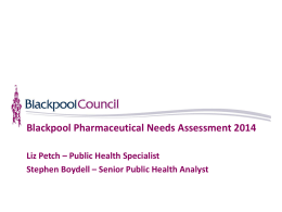 PNA - Blackpool Joint Strategic Needs Assessment