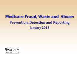 Mercy Health System Fraud, Waste and Abuse training