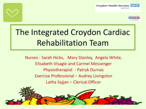 The Integrated Cardiac Rehabilitation Team