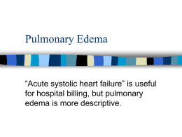 pulmonary edema - Jacobi Medical Center