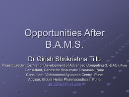 Opportunities after B.A.M.S