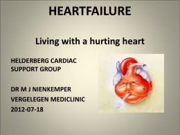 Heart Failure - the Helderberg Cardiac Support Group