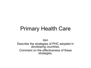 Primary Health Care - Clydebank High School