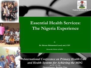 Nigeria2 April 23_Ministers presentation for PHC