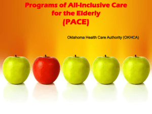 PACE - The Oklahoma Health Care Authority