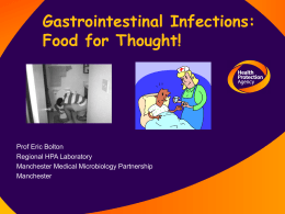 bolton - Gastrointestinal Infections: Food for Thought