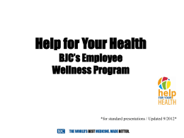 BJC HFYH Employee Health Promotion