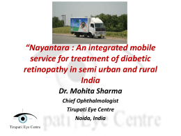 Dr M Sharma_Integrated Mobile Service for Treatment of DR