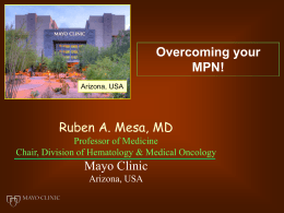 Overcoming your MPN! - MPN Research Foundation