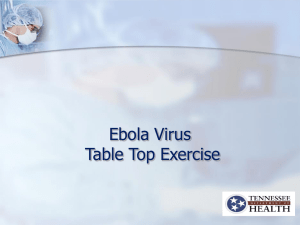 TDH EVD Tabletop Exercise Slide Set for Healthcare