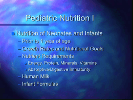 Neonatal Growth and Nutrition