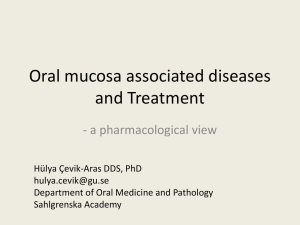 Oral Mucosa Associated Diseases, 2013 (ppt