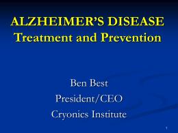 BBest -- Alzheimers - Institute for Evidence