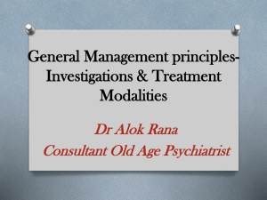 Principles of treatment & management in Psychiatry