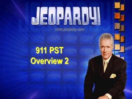 Jeopardy PST Overview 2