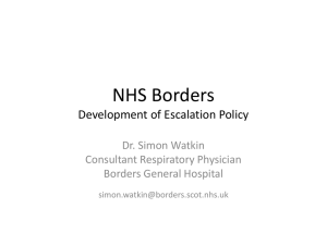 NHS Borders  - Shifting the Balance of Care
