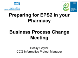 Preparing for EPS in Your Pharmacy