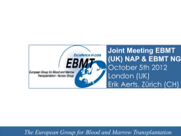 The European Group for Blood and Marrow