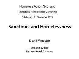 Sanctions and Homelessness