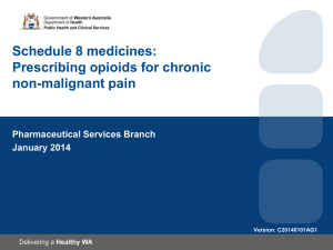 Prescribing opioids for chronic non-malignant pain