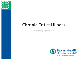Chronic Critical Illness Presentation