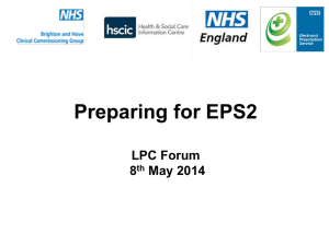 EPS LPC Forum Pharmacy Presentation 080514