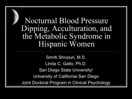Nocturnal Blood Pressure Dipping, Acculturation, and the