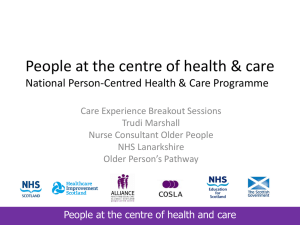 People at the centre of health & care National Person