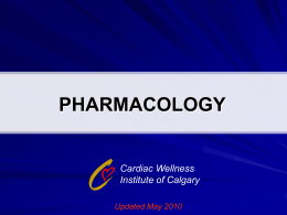 CWIC Module: Pharmacology presentation