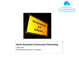Welcome to North Somerset Community Partnership CIC