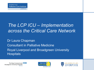 The LCP ICU