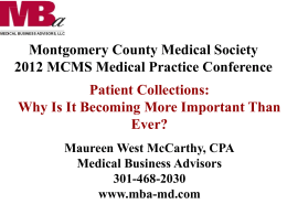 Patient Collections - Montgomery County Medical Society