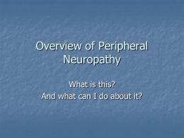 Overview of Peripheral Neuropathy