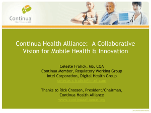 Continua Health Alliance - International Research Center